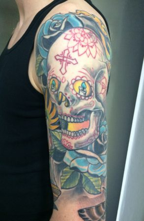 the-pink-elephant-tattoo_neotradtional_sugar_skull